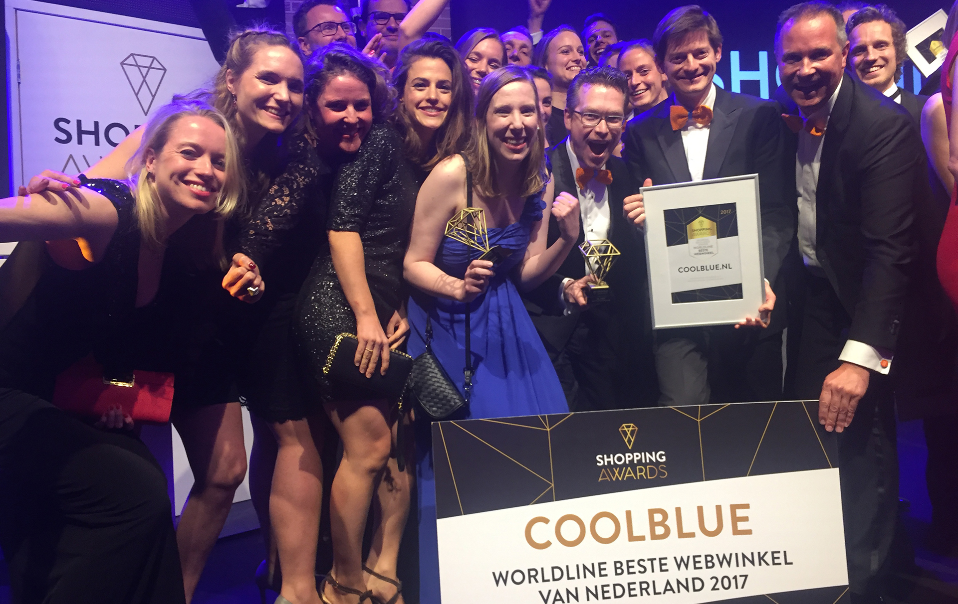 Coolblue wint 3 awards tijdens de Shopping Awards